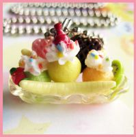 Banana Split Sprinkle Necklace by cherryboop