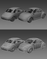 Volkswagen New Beetle WIP 2 by ExtraNoise
