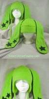 Star bunny hat details by The-Cute-Storm
