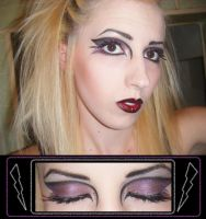 'goth' makeup contest entry by hiimgaymolly