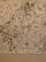 Mine and Flutt's bootifel drawings! by KIBBLK9