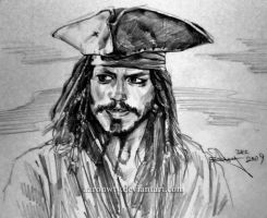 Jack Sparrow sketch by aaronwty
