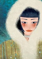 Inuit girl by Val-eithel