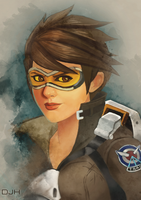 Overwatch - Tracer by djohnhudd