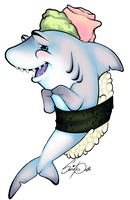 Please Don't Eat Me! Sushi Shark! by SquidPuke