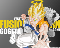 Fusion Reborn Gogeta Wallpaper by TattyDesigns