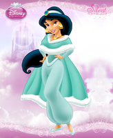 Disney Princesses - Winter Jasmine by SilentMermaid21