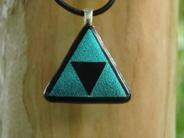 Custom Blue Glass Triforce by FusedElegance