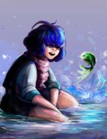 Fish and Girl by OUWU