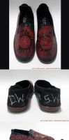 Supernatural Custom Shoes (Slip-on) (For Sale) by GinnyMilling