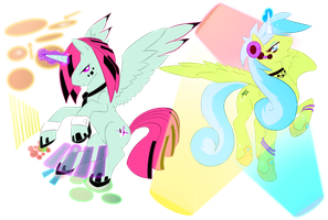 Alicorn twins of Music by Fly-Sky-High