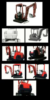 Tractor_mini excavator by CleverFoxImages