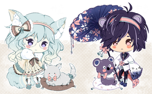 .:CLOSED:. Adoptable - Fluffbebe #2 and #3 by chisei-adopts