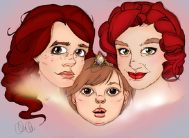 Sabriel and her Guardian Angels by imaginarymagdalena