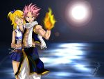 Natsu and Lucy Fairy Tail by Sersiso