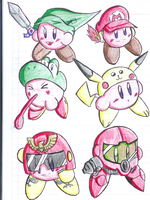 Kirby Hats by Shinji-Leaf