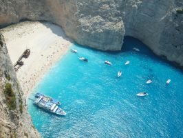 Greece Zante - Shipwreck Cove by 1darthvader