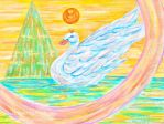 Swan and Pyramid by Rika-Mystic-Artist