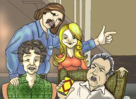 All in The Family Colored by Tophoid