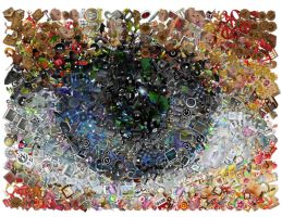 Digital eye Mosaic by Cornejo-Sanchez