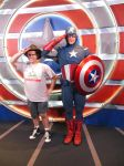 Captain America at Disneyland by montey4