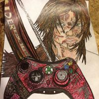 almost done with my tomb raider drawing by EJJetsetter