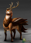 Wanderers Tome: Deer Spirit by dragoonwys