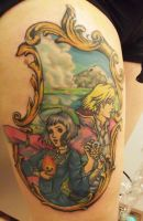howls moving castle tattoo by mortimersparrow