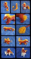 -Knitting- Poseable Asian Dragon (Firecracker) by LadyTemeraire