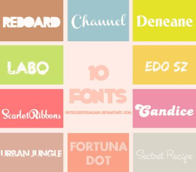 Pack de Fonts by untilIseeyouagain