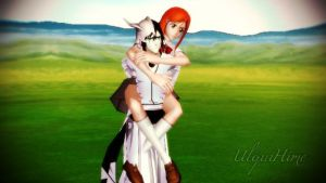 UlquiHime ~ Piggyback by MelLawliet