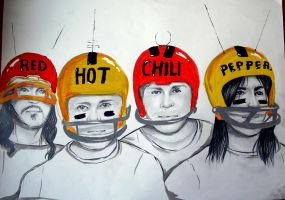 Red Hot Chilli Peppers by loolule