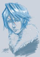 DigiSketch - Squall Leonheart by riotfaerie