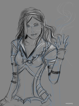 Sketch: Sigyn by waspany