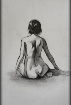 female figure drawing by Xezra