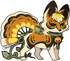 Pumpkin Foxfan for Kawiku by Belliko-art