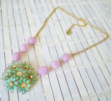 Flower Cluster Necklace by RetroRevivalBoutique