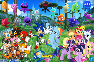 Sonic and My Little Pony (Colors Project) by trungtranhaitrung