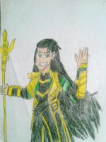 Loki in Equestria Girls Style Colored. by brandonale