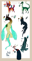 unique adoptables CLOSED by Densetsugin