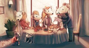 mouses drinking tea by Raiden-chino