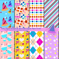 Let's Party Theme Scrapbooking Paper Goods by anwaarsaleh