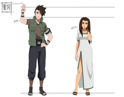 Naruto OC Sheet: Isamu and Tomoe Kurosawa by maple-flower