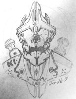 Sketch: Armor for an Emperor by HostileSynth