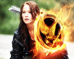 The Hunger Games. Katniss in the flame 2 by StalkerAE