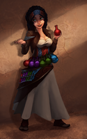 Potion Merchant by Phosphonian