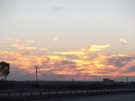 Sunset Over The Highway by DallasBlack