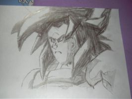 SSJ4 Goku sketch by ShadowUltimatePower
