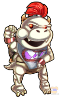 Dry Bowser Jr  by HG-The-Hamster