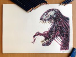 Carnage Drawing by AtomiccircuS